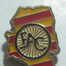 Colecionismo desportivo: PIN FEDERACION ARAGONESA DE CICLISMO. Lote 236541470
