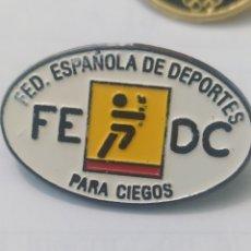 Colecionismo desportivo: PINS DE DEPORTE. FEDERACIÓN ESPAÑOLA DE DEPORTES PARA CIEGOS. Lote 238245465