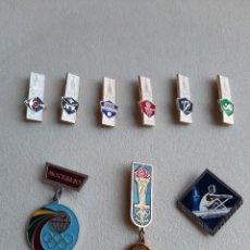Coleccionismo deportivo: 9 PINS INSIGNIAS JUEGOS OLÍMPICOS MOSCÚ 1980. Lote 238779205