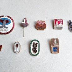 Coleccionismo deportivo: 9 PINS INSIGNIAS JUEGOS OLÍMPICOS MOSCÚ 1980.. Lote 238779830
