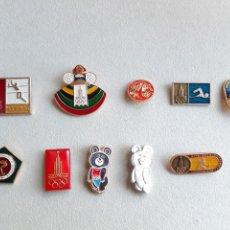 Coleccionismo deportivo: 10 PINS INSIGNIAS JUEGOS OLÍMPICOS MOSCÚ 1980. Lote 238781410