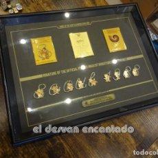 Coleccionismo deportivo: OLIMPIADA SEUL 88. INSIGNIAS OFICIALES CONMEMORATIVAS EN ENMARCACION LUJO.. Lote 240882040