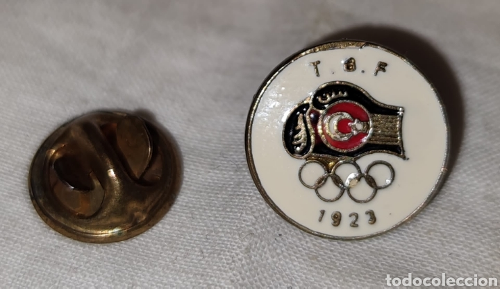 Coleccionismo deportivo: PIN T B F - JUEGOS OLIMPICOS - 1923 -Türkiye Basketbal Federasyonu - Fed de Baloncesto de Turquia - Foto 2 - 242880195