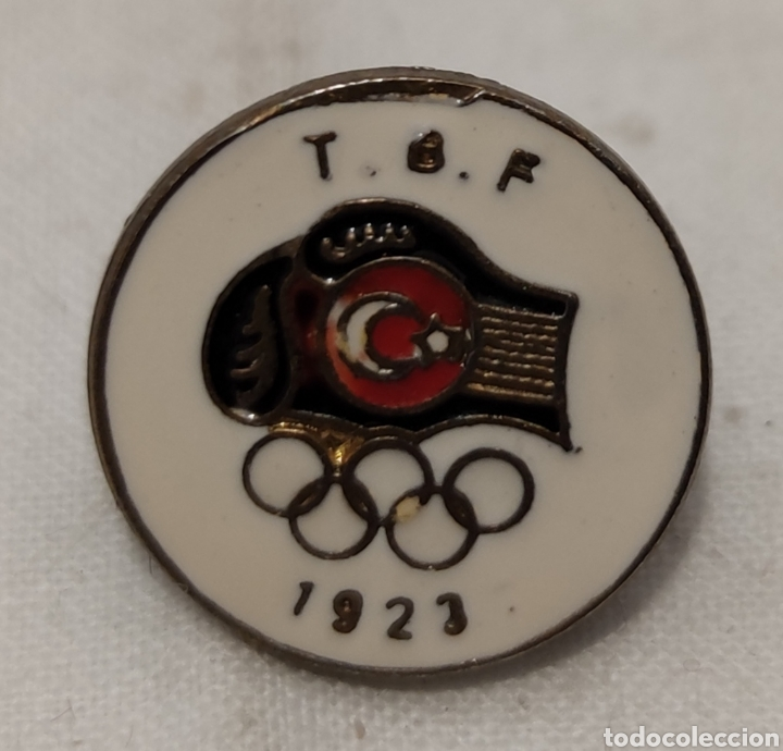 Coleccionismo deportivo: PIN T B F - JUEGOS OLIMPICOS - 1923 -Türkiye Basketbal Federasyonu - Fed de Baloncesto de Turquia - Foto 4 - 242880195