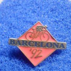 Coleccionismo deportivo: PIN - OLIMPIADAS - BARCELONA ´92 - 1992 - CICLISMO 27 X 33 MM - NUEVO. Lote 244724850
