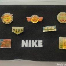 Coleccionismo deportivo: 7X PINS NIKE CAJA SERIE COMPLETA. Lote 245295860