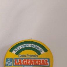 Coleccionismo deportivo: CHAPA XXV VUELTA A ANDALUCÍA GRAN PREMIO LA GENERAL. Lote 253476235