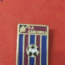 Coleccionismo deportivo: PINS DE FÚTBOL CP.CABEZUELA SEGOVIA C. Y LEÓN. Lote 262050455