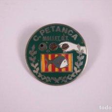 Coleccionismo deportivo: CLUB PETANCA - MOLLET - INSIGNIA METAL ESMALTADO GRAN TAMAÑO 5X5CM. Lote 278327953