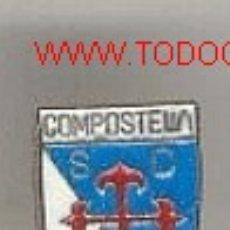 Coleccionismo deportivo: PIN ESCUDO * S.D. COMPOSTELA *. Lote 20430787