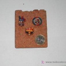 Coleccionismo deportivo: 3 PINS FUTBOL CLUB BARCELONA. Lote 4250679