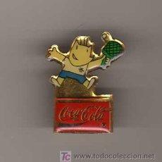 Coleccionismo deportivo: PIN COBI - COCA COLA - PING PONG - BARCELONA 92. Lote 9132935