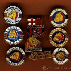 Coleccionismo deportivo: NUEVE PINS DE FUTBOL DEL BARCELONA DE LOS BOIXOS NOIS MUY DIFICIL DE CONSEGUIR . Lote 27376568