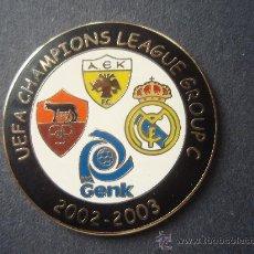 Coleccionismo deportivo: PIN'S DEL MADRID DE LA CHAMPIONS DEL 2.002. Lote 26188035