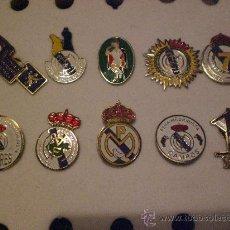 Coleccionismo deportivo: LOTE COLECCION DE 10 PINS INSIGNIAS PEÑA S MADRIDISTA REAL MADRID . Lote 15521936