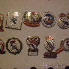 Coleccionismo deportivo: LOTE COLECCION DE 10 PINS INSIGNIAS PEÑA S MADRIDISTA REAL MADRID . Lote 15521966