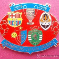 Coleccionismo deportivo: PIN DE LA CHAMPION LEAGUE GRUPO C 2,.008 - 09. Lote 26805863