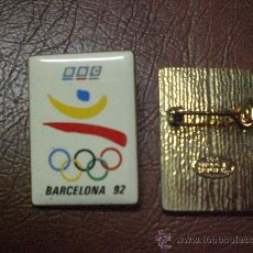 Coleccionismo deportivo: PIN DE AGUJA TELEVISION CANAL BBC OLIMPIADAS BARCELONA 1992 JUEGOS OLIMPICOS 92. Lote 26269792