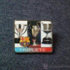 Coleccionismo deportivo: PIN F C BARCELONA BARÇA TRIPLETE LIGA COPA CHAMPIONS LEAGUE 2009. Lote 22600707
