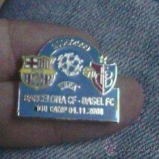 Coleccionismo deportivo: PIN BARÇA F C BARCELONA BASILEA CHAMPIONS LEAGUE 2008. Lote 28000840