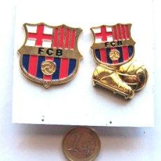 LOTE 2 PINS FC BARCELONA   ESCUDO Y BOTA-BALÓN. EX IMANES AHORA HECHOS EN  PINS GRANDES 4 CM. L 11 cc3a76915d598