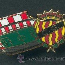 Coleccionismo deportivo: PIN ESMALTADO DEL ESTADIO NOU ESTADI (GIMNÀSTIC O NÀSTIC DE TARRAGONA). Lote 99383644