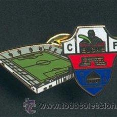 Coleccionismo deportivo: PIN ESMALTADO DEL ANTIGUO ESTADIO ALTABIX (ELCHE CF). Lote 99382980