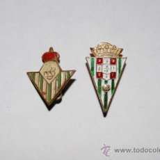 Coleccionismo deportivo: 2 PINS FUTBOL REAL BETIS Y CORDOBA. Lote 34345096