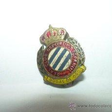Coleccionismo deportivo: ANTIGUA Y RARA INSIGNIA....R.C.D. ESPAÑOL.....BODAS DE ORO. Lote 32344092