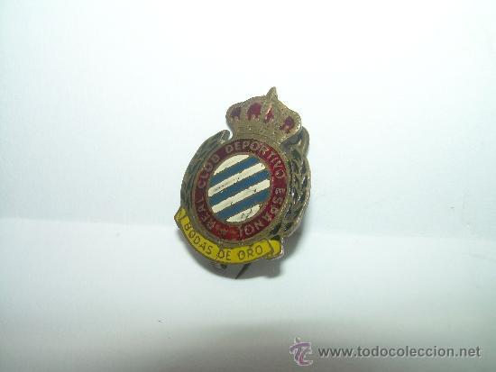 Coleccionismo deportivo: ANTIGUA Y RARA INSIGNIA....R.C.D. ESPAÑOL.....BODAS DE ORO - Foto 3 - 32344092