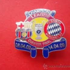 Coleccionismo deportivo: PIN'S DE LA CHAMPION'S CUARTOS DE FINAL DEL 2.009. Lote 33798698