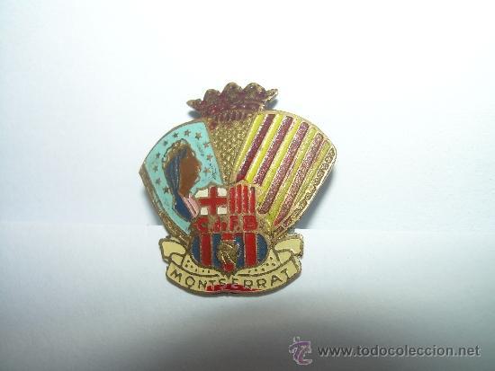 Coleccionismo deportivo: ANTIGUA Y RARA INSIGNIA.....C. DE F. BARCELONA.....MONTSERRAT - Foto 4 - 35417337