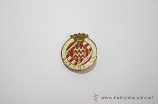 PIN060 PIN O INSIGNIA DEL GIRONA FC. METAL DORADO Y ESMALTE. DE IMPERDIBLE. 1,6 CM (Coleccionismo Deportivo - Pins de Deportes - Fútbol)