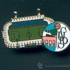 Coleccionismo deportivo: PIN ESMALTADO DEL ESTADIO HELMÁNTICO (UD SALAMANCA). Lote 109014338