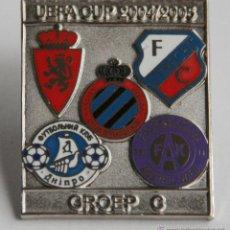 Collezionismo sportivo: PIN DE FUTBOL REAL ZARAGOZA COPA LA UEFA 2004 2005 GRUPO BRUJAS UTRECH AUSTRIA VIENA DNIPROPETROVSK. Lote 42723750