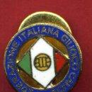 Coleccionismo deportivo: PIN FUTBOL , FEDERACION ITALIANA ITALIA CALCIO , REVERSO SOLAPA , ORIGINAL ,F1. Lote 43240056
