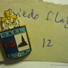 Coleccionismo deportivo: PIN FUTBOL OVIEDO SAN LAZARO. Lote 43430242