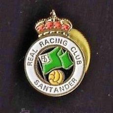 Coleccionismo deportivo: PIN - FUTBOL - REAL RACING CLUB - SANTANDER - CANTABRIA - METAL ESMALTADO - CALIDAD - EP 4/1. Lote 43712074