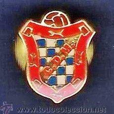 Collectionnisme sportif: PIN - FUTBOL - C.D.M. - C.D. MOGUER - HUELVA - METAL LACADO - CALIDAD - EP 1. Lote 43822209