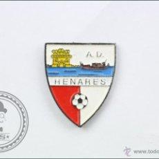 Coleccionismo deportivo: PIN AGRUPACIÓN DEPORTIVA / AD HENARES - ESCUDO - 16 X 18 MM - FÚTBOL. Lote 43892458