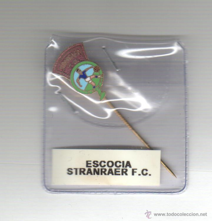 PIN INSIGNIA AGUJA LARGA - FUTBOL - STRANRAER F.C. - ESCOCIA (Coleccionismo Deportivo - Pins de Deportes - Fútbol)