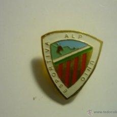Coleccionismo deportivo: PIN FUTBOL U E ALP --BOTON. Lote 44918521
