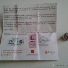Coleccionismo deportivo: PIN CENTENARIO REAL MADRID (PLATA). Lote 45949764