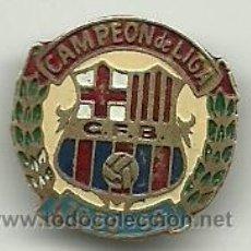 Coleccionismo deportivo: (P-46)PIN CAMPEON DE LIGA 1958-59, C.F.BARCELONA. Lote 47655696