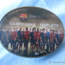 Coleccionismo deportivo: PIN F C BARCELONA BARÇA TRIPLETE. Lote 92036900