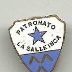 Colecionismo desportivo: (P-343)INSIGNIA DE SOLAPA PATRONATO LA SALLE INCA. Lote 49966323