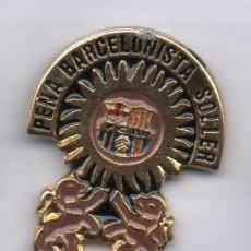 Coleccionismo deportivo: PIN DE FUTBOL-PEÑA BARCELONISTA SOLLER (MALLORCA). Lote 50326376