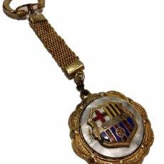 Coleccionismo deportivo: ANTIGUA MEDALLA PIN INSIGNIA LLAVERO ESMALTADA Y ANACARADA B.C.F- F.C.B. BARCELONA BARÇA. Lote 50801937