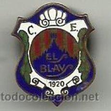 Coleccionismo deportivo: (P-321)ANTIGUA INSIGNIA ESMALTADA DE SOLAPA CLUB ESPORTIU ELS BLAUS.(SARRIA - SANT GERVASI )1920. Lote 51762596
