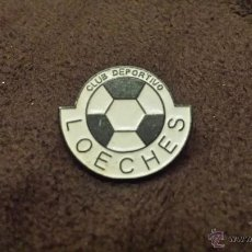 Colecionismo desportivo: PIN ESCUDO EQUIPO FUTBOL CLUB DEPORTIVO LOECHES (CLUB DE LA PROVINCIA DE MÁDRID ). Lote 52468488